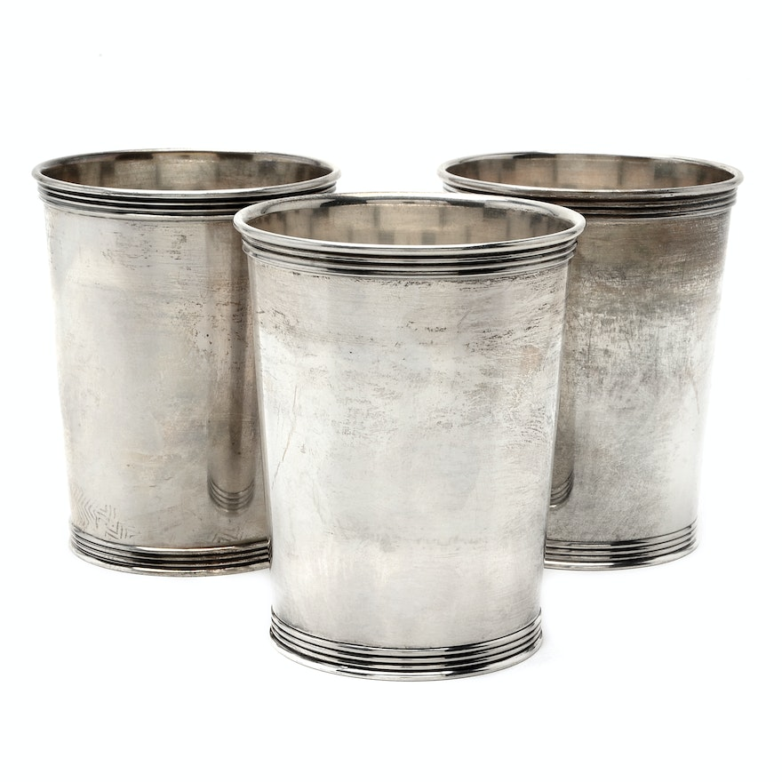 Manchester Silver Co Sterling Silver Mint Julep Cups Ebth