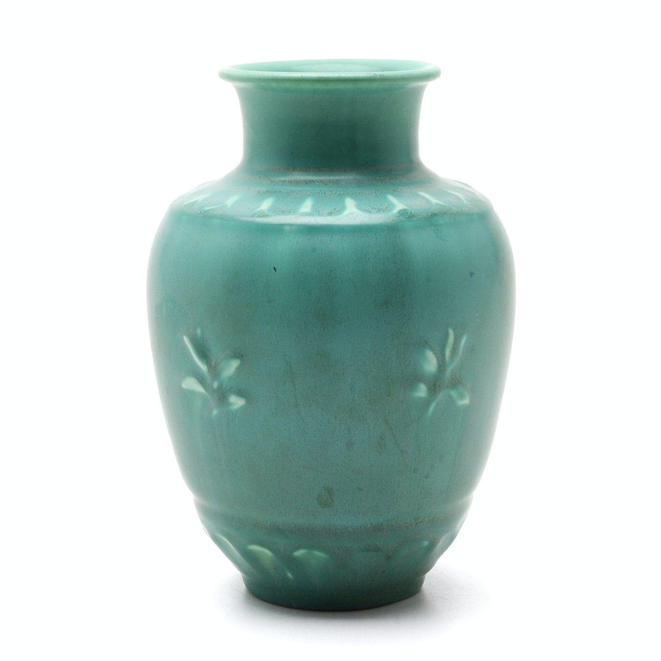 1944 Rookwood Art Pottery Vase in Green Matte Glaze