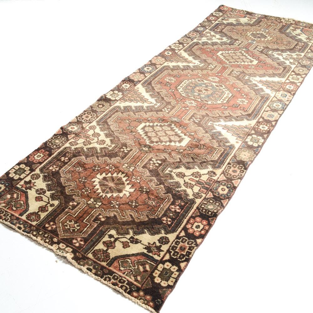 Vintage Hand-Knotted Persian Karaja Heriz Runner