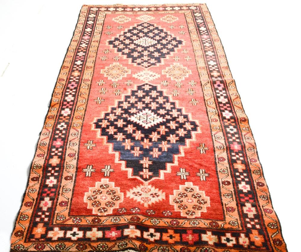 Vintage Hand-Knotted Persian Kajara Heriz Rug