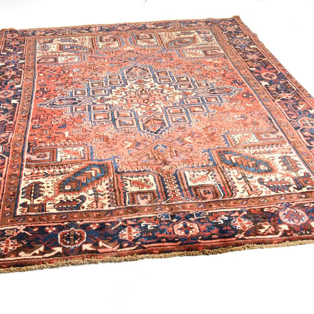 Vintage Hand-Knotted Persian Serapi Heriz Rug
