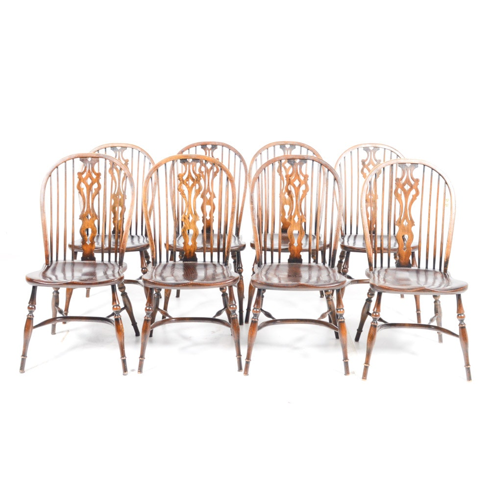 Contemporary Bow Back Windsor Dining Chairs