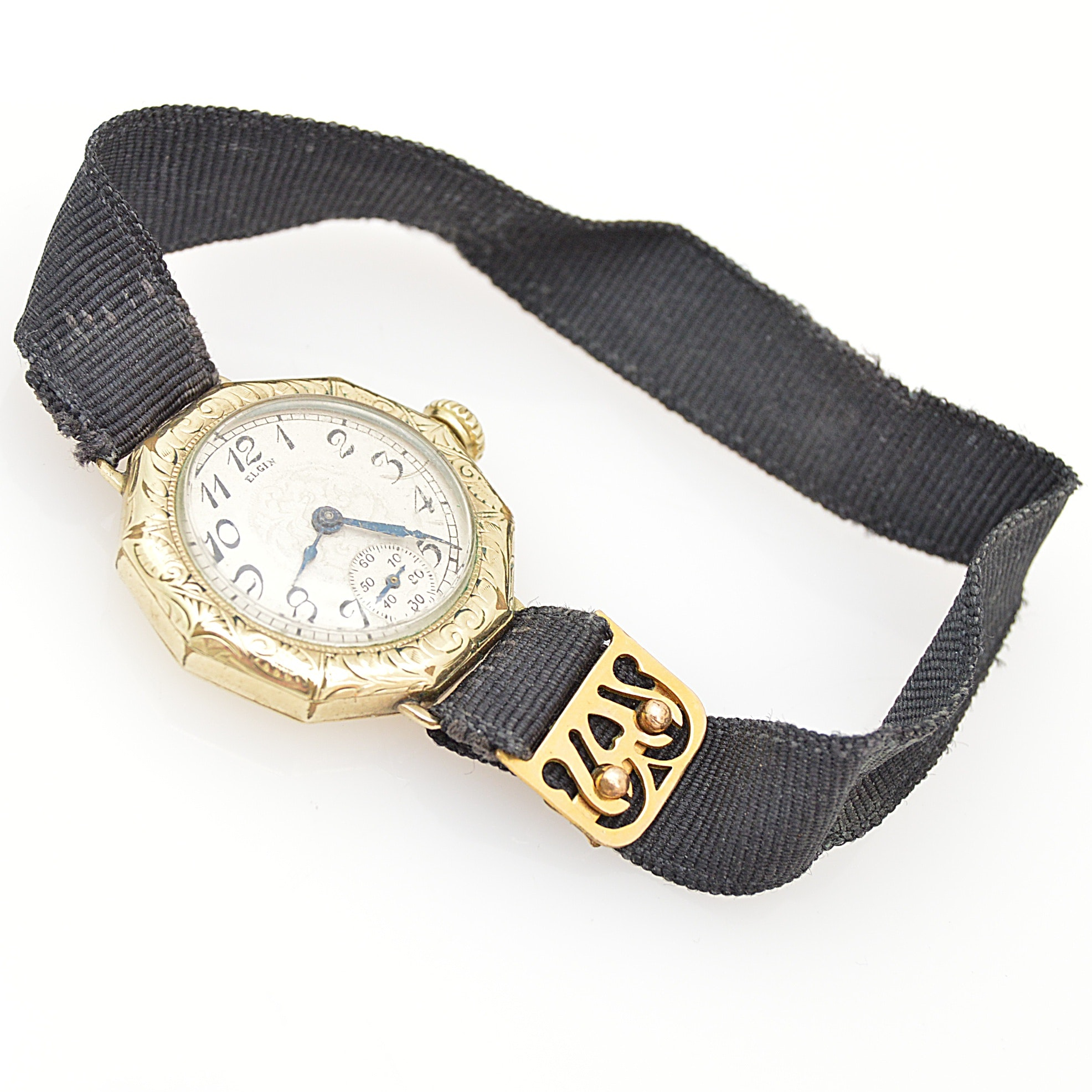 Circa 1923 Elgin Gold-Filled Wristwatch with Ribbon Band