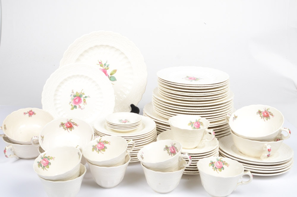 "Vintage Spode ""Billingsley Rose"" Porcelain Tableware"