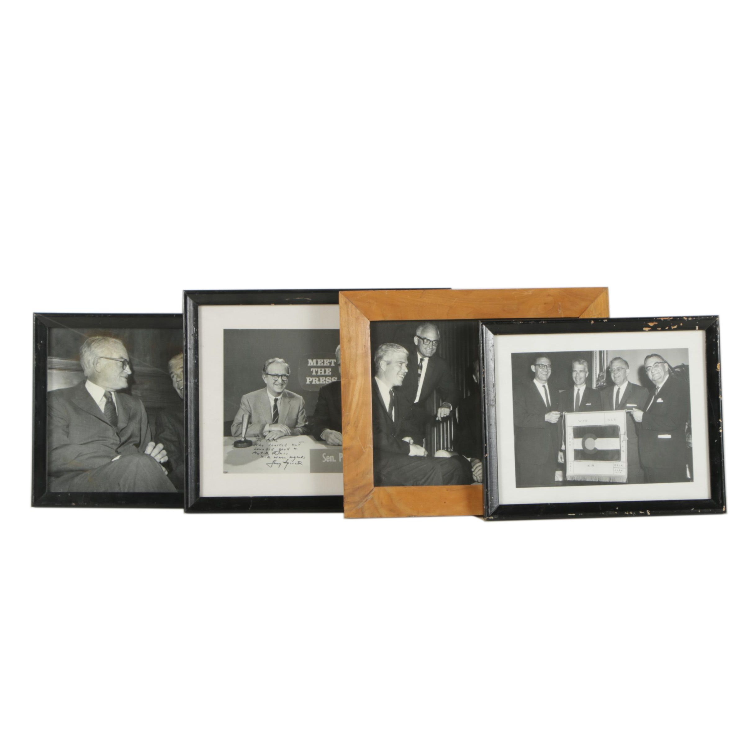 Photos Including Larry Spivak Autograph, Peter Dominick and Barry Goldwater