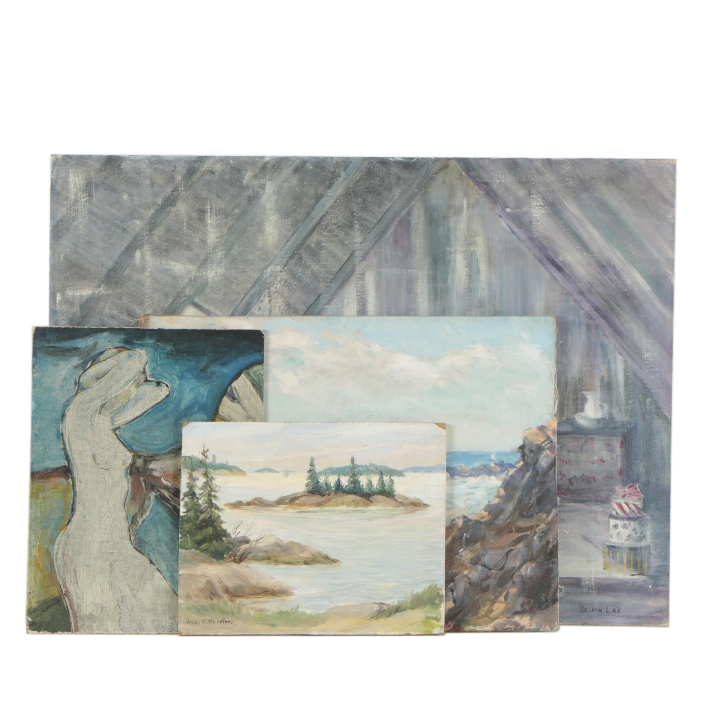 Oil Paintings Including H.V. Patterson, Hazel Kitts Wires, and More