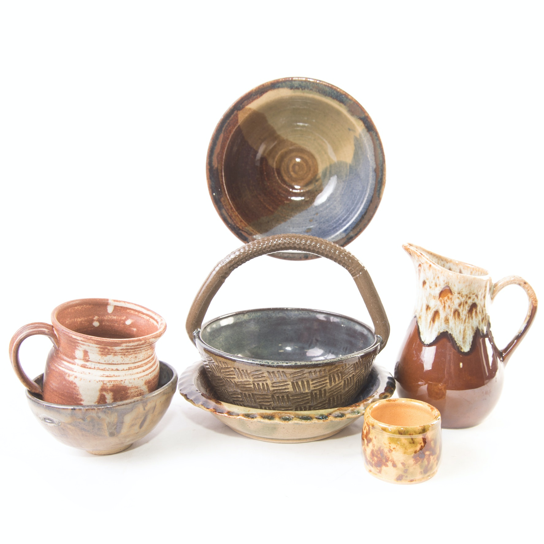 Art Pottery Bowls and Pitchers