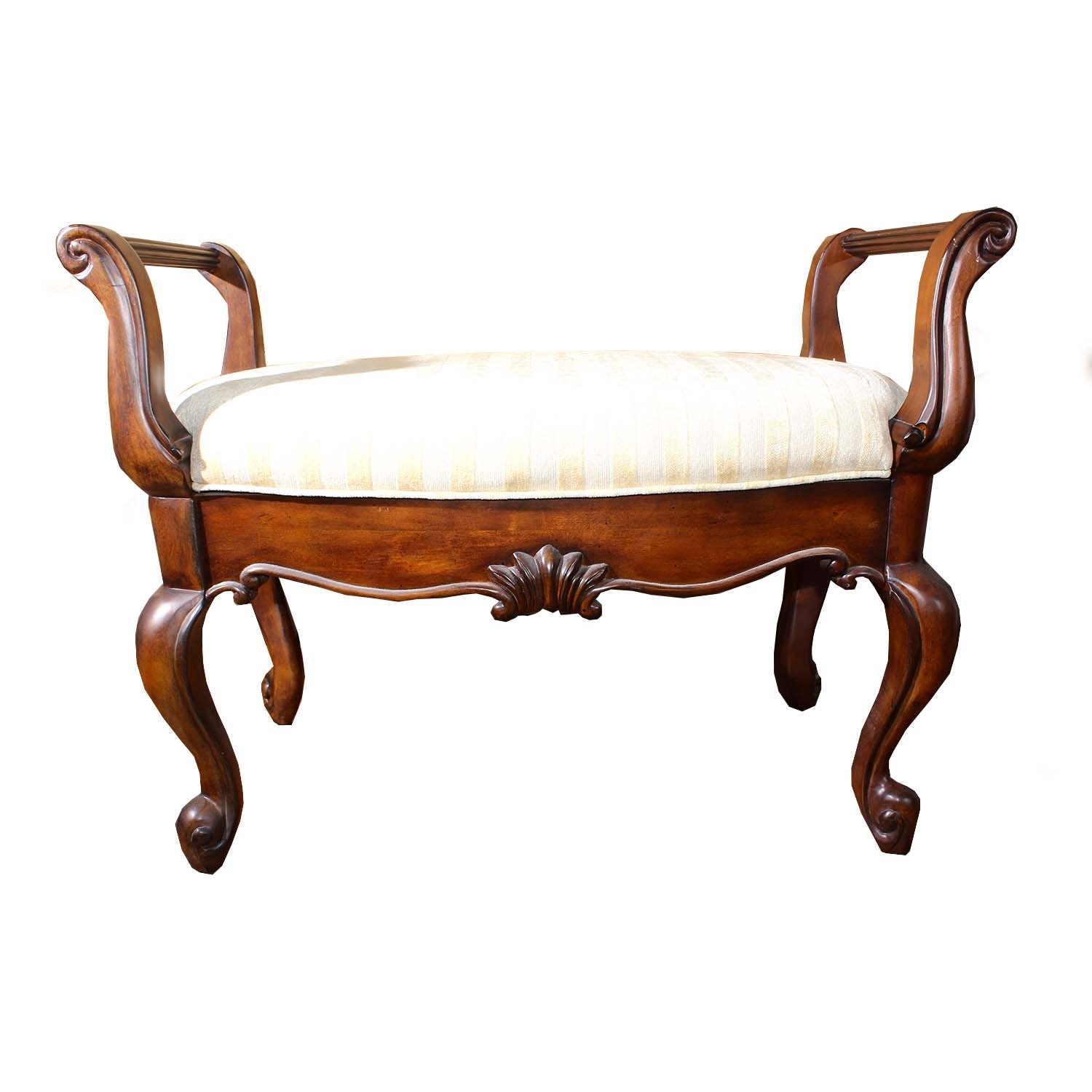 Mahogany Upholstered Bedroom Bench