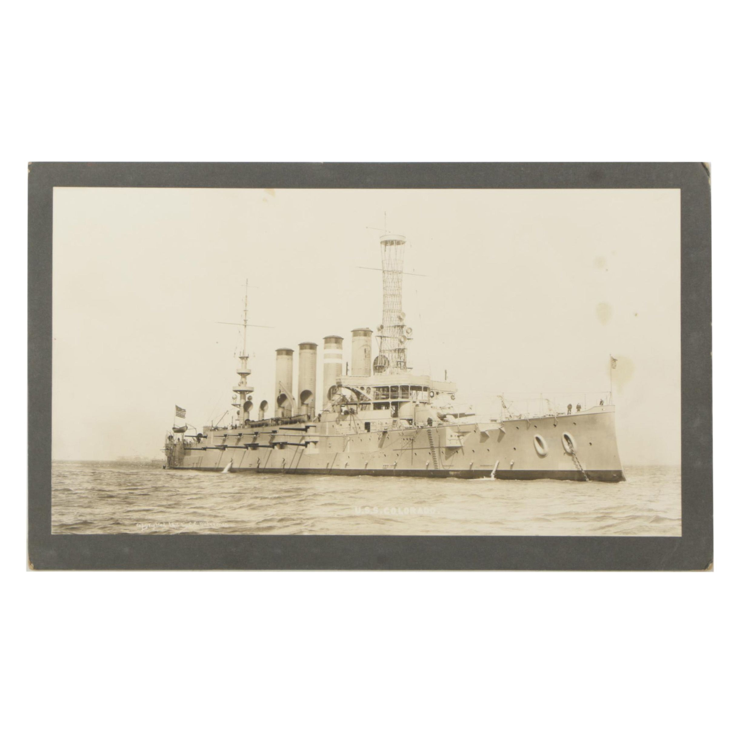 1911 Photograph After C.E. Waterman of U.S.S. Colorado Armored Cruiser