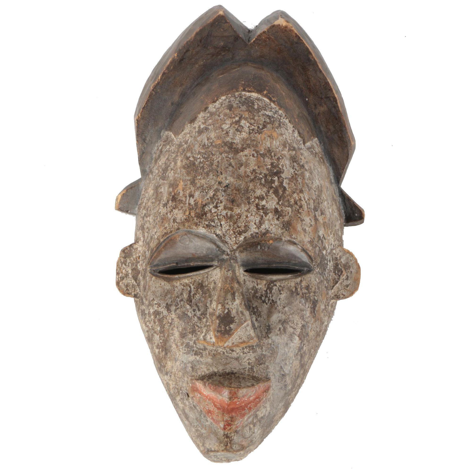 Hand Carved African Baule Style Wooden Mask