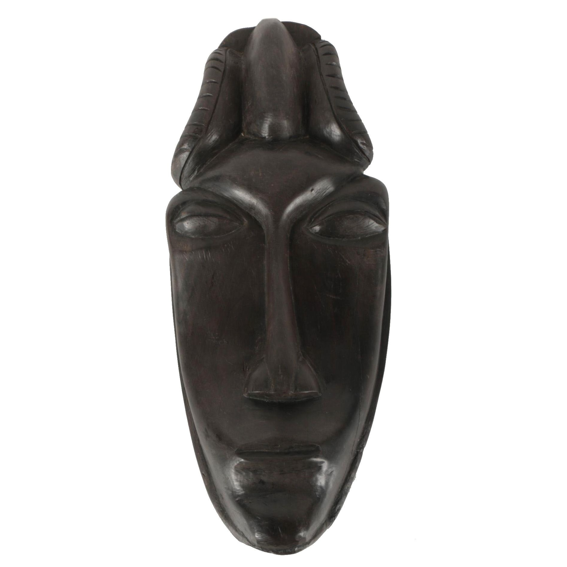 Hand Carved African Maasai Style Sculptural Mask