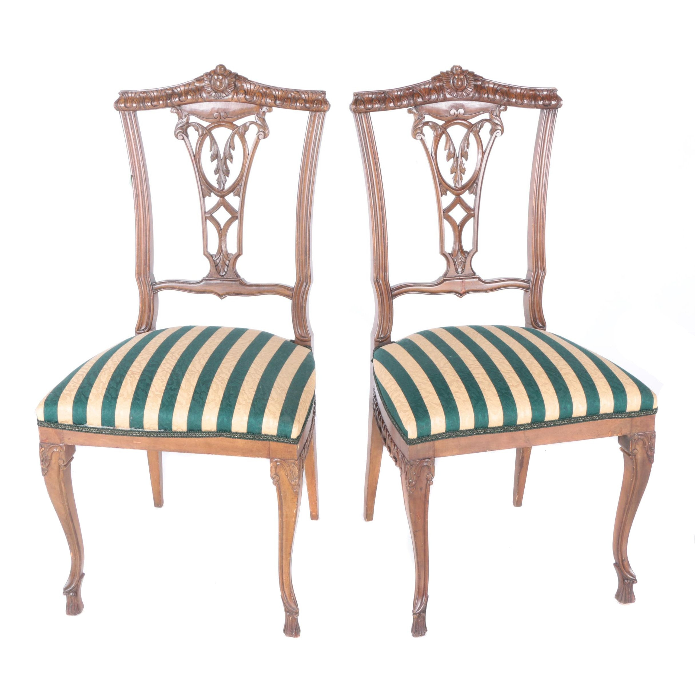 Rococo Style Vase Back Side Chairs