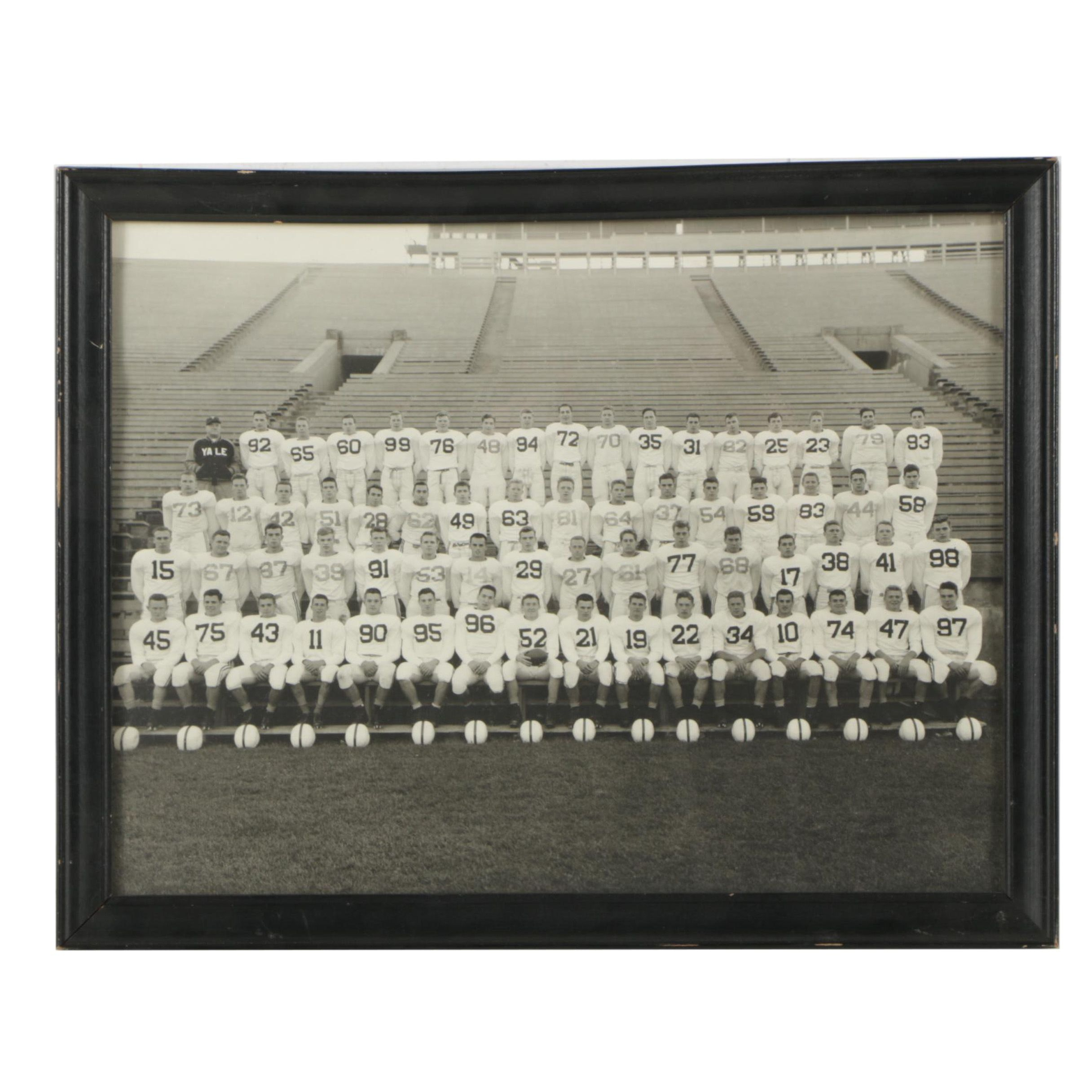 Black and White Photograph of Yale Football Team