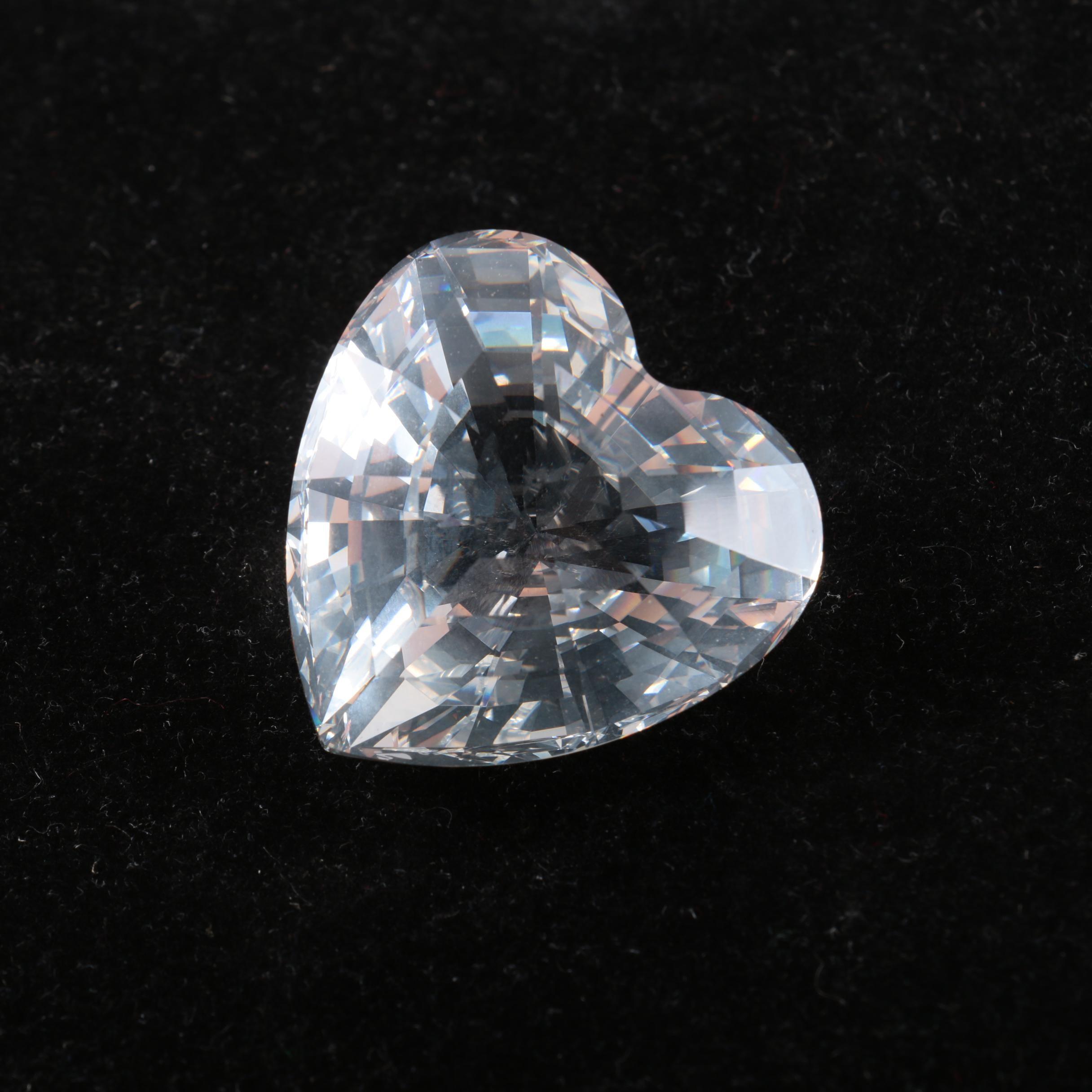 Swarovski Crystal Heart Figurine