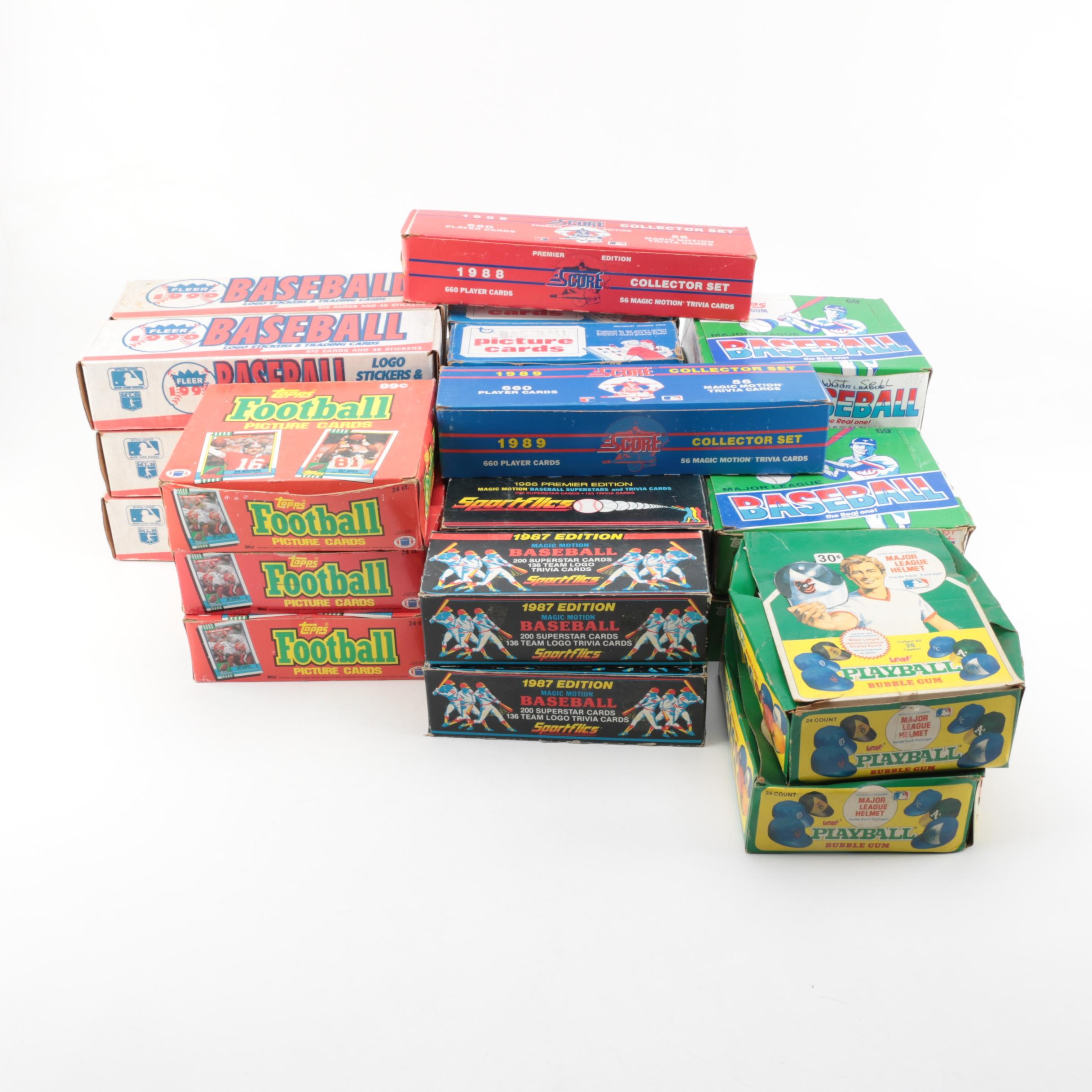 1980s-1990s Sport Card Sets Including Topps and Fleer
