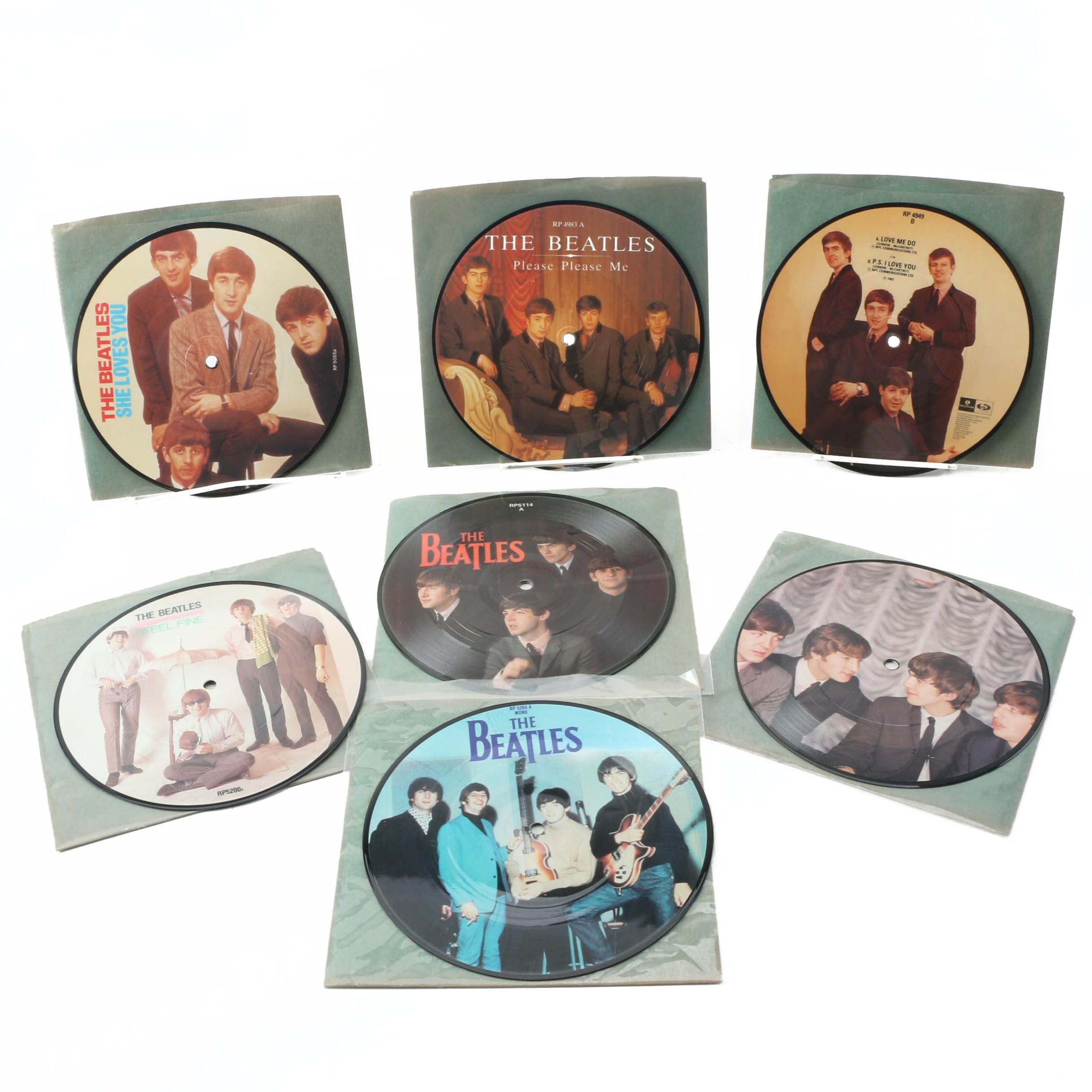The Beatles 20th Anniversary UK Picture Disc Records