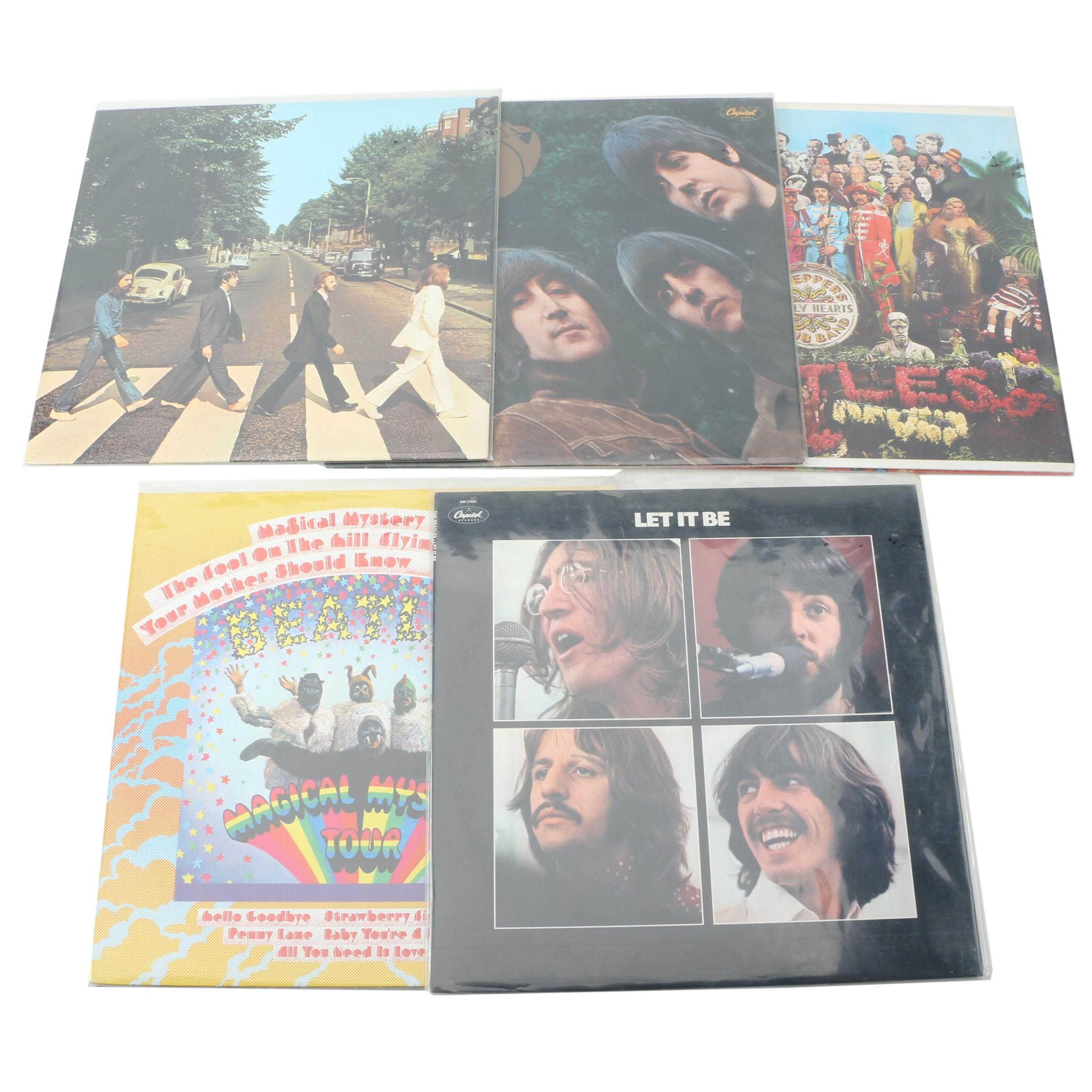 The Beatles Capitol Nostalgia Rainbow Label Record Collection