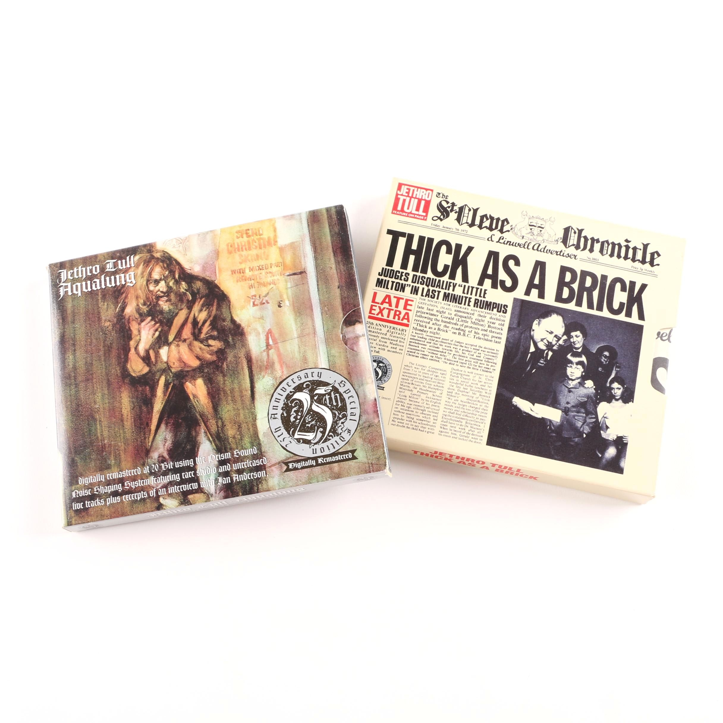"Jethro Tull ""Aqualung"" and ""Thick As A Brick"" 25th Anniversary Edition CDs"