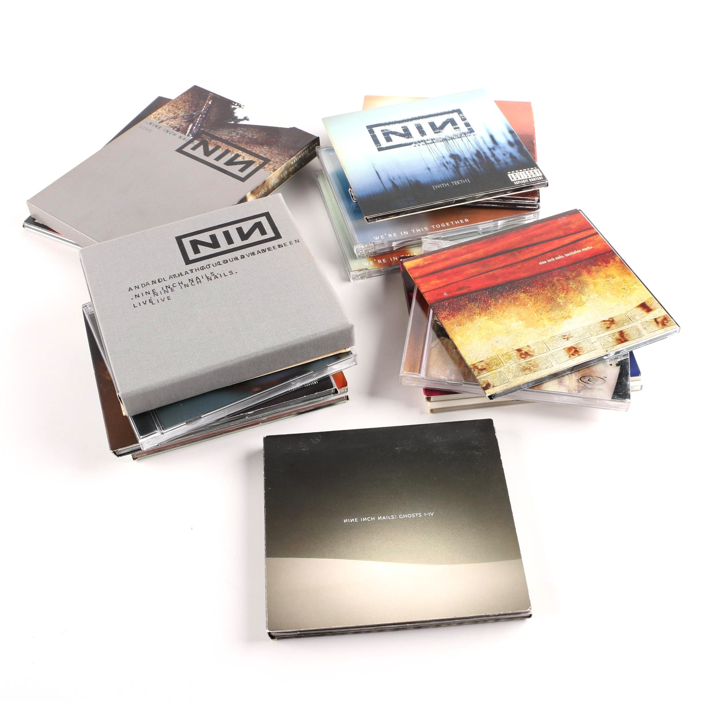 "Nine Inch Nails CDs and DVD Collection Including ""The Downward Spiral"" Dual Disc"