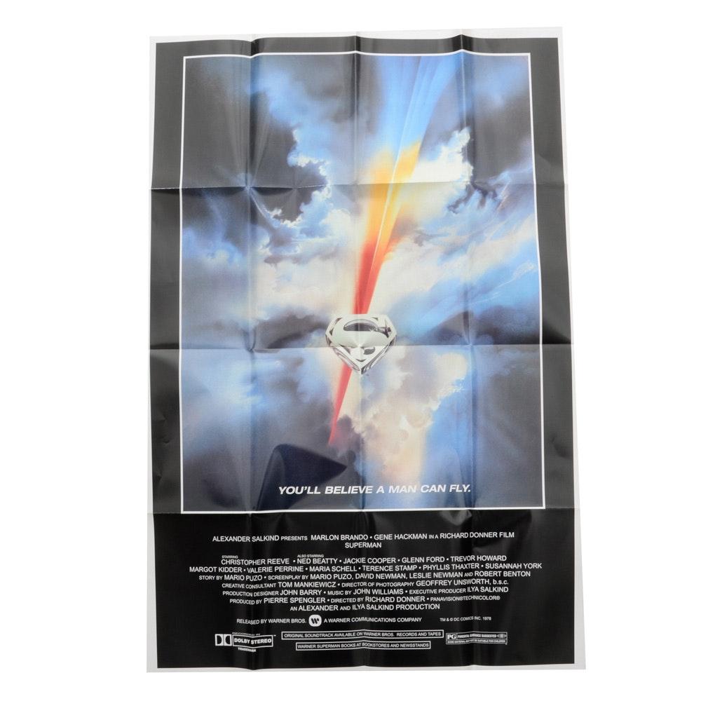 "Original 1978 ""Superman The Movie"" Poster"