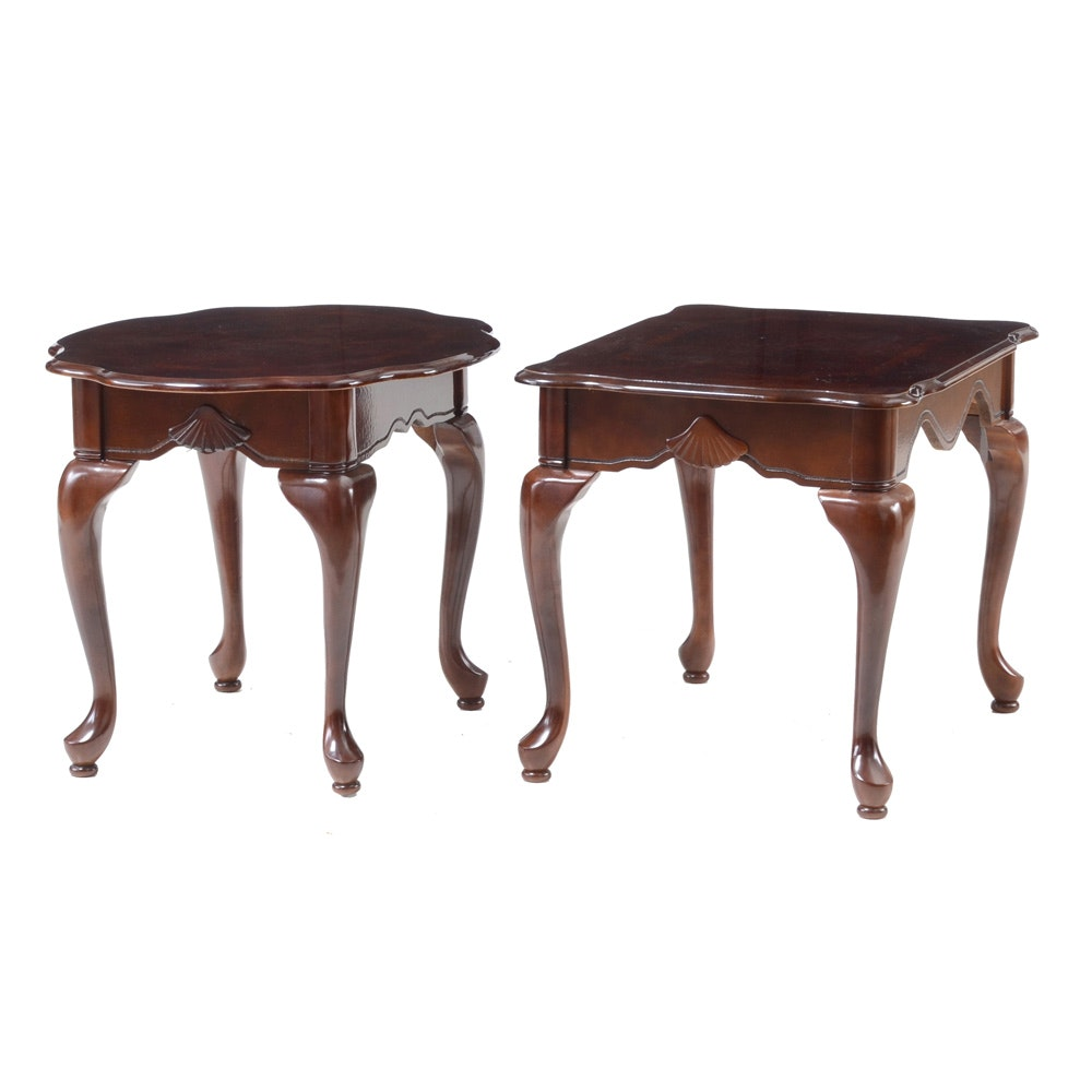 Pair Of Mahogany Accent Tables ...