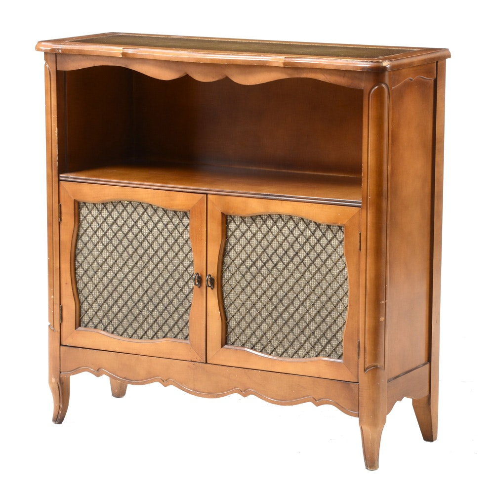 Vintage Cabinet with Leather Inlay