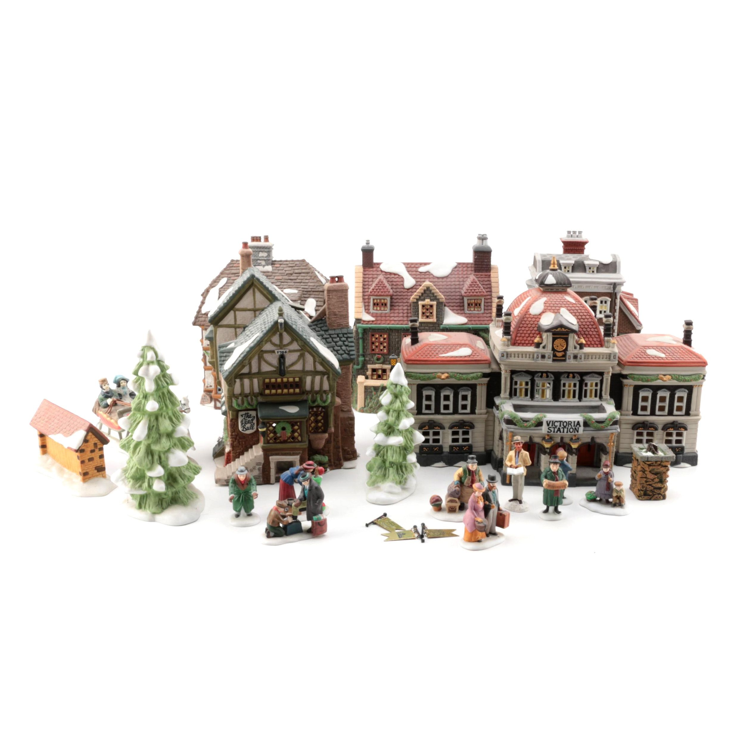 """Department 56 """"Dickens Village"""" Christmas Village Buildings and Figurines"""