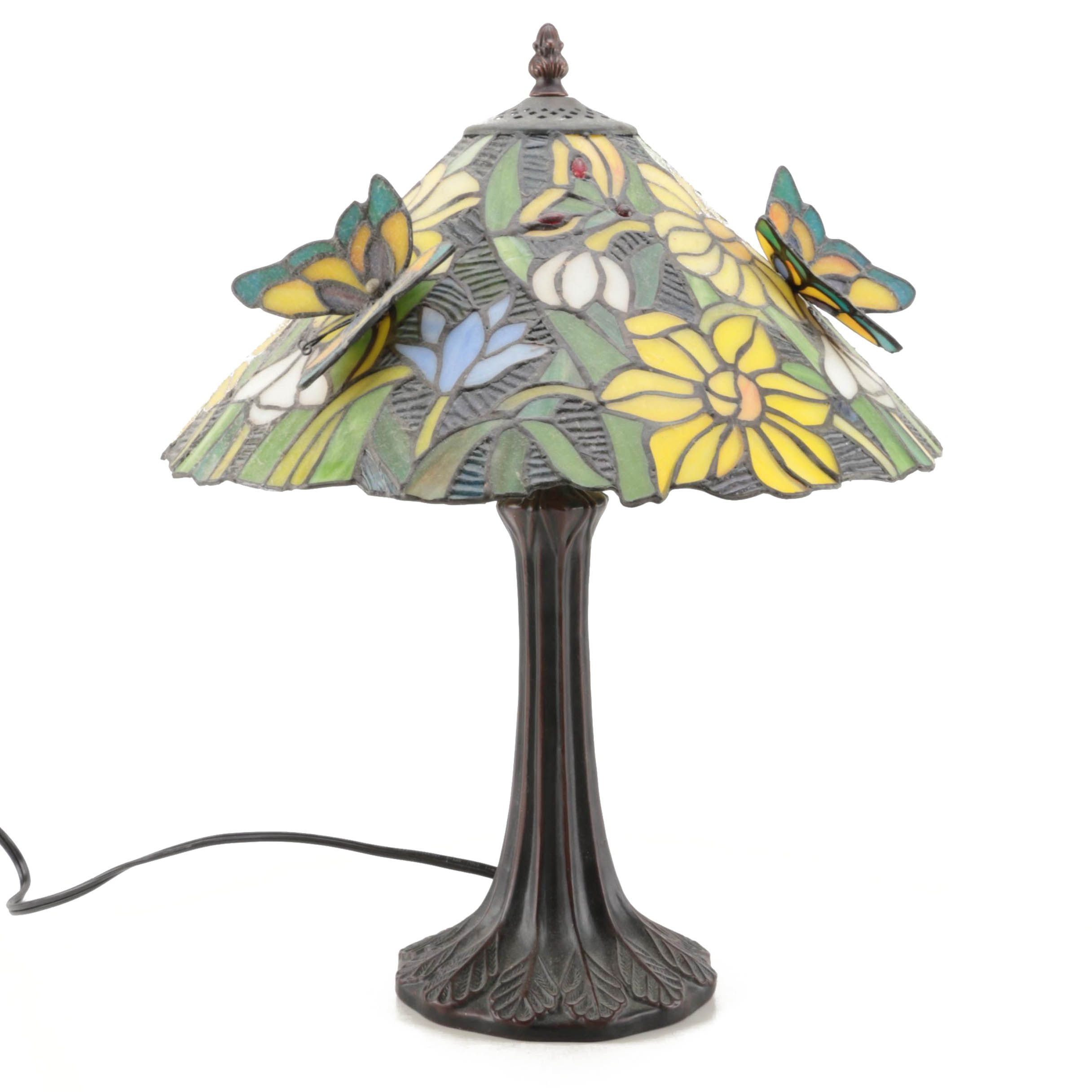 Tiffany Style Butterfly Table Lamp Ebth