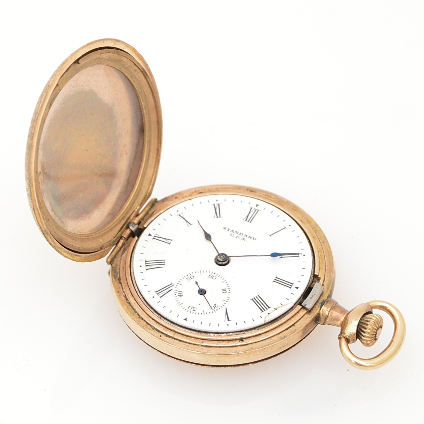 Antique Standard Gold-Filled Hunting Case Pocket Watch