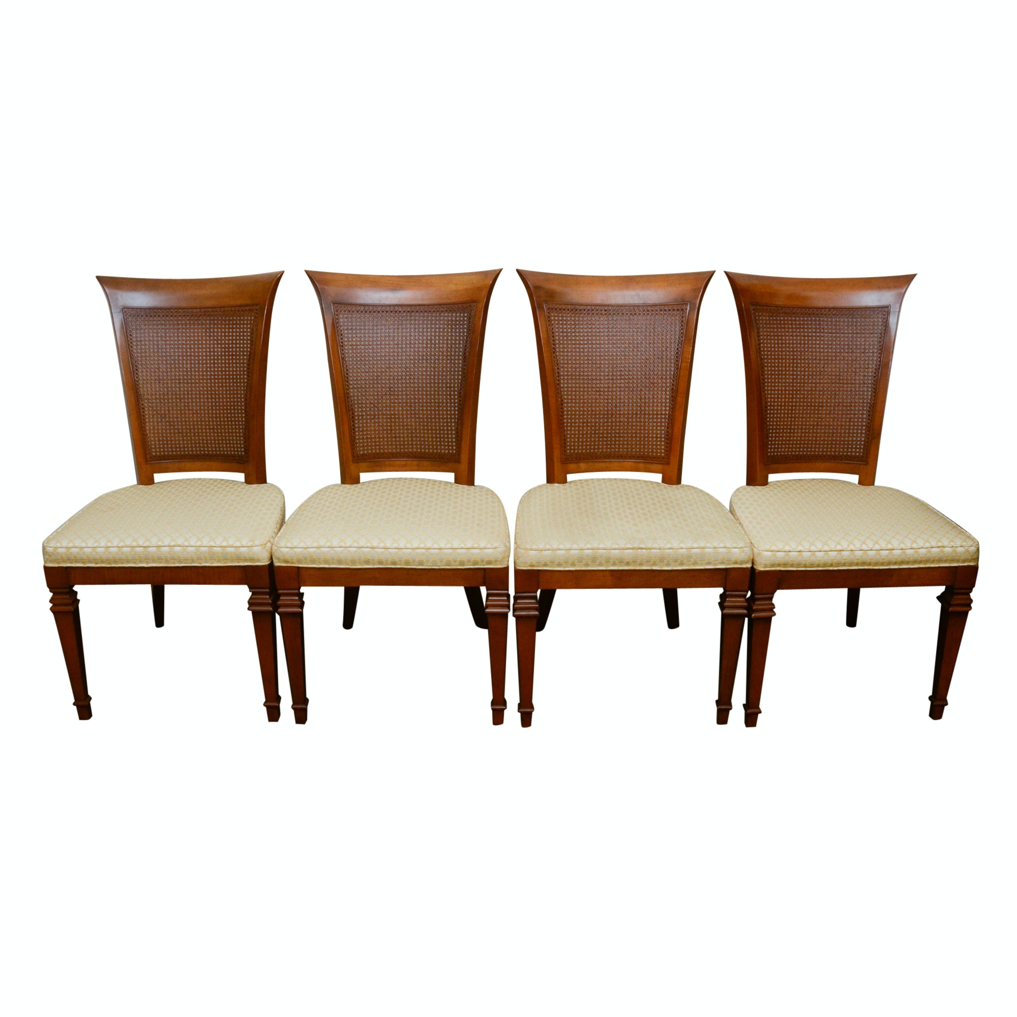 Set of Cane Dining Chairs
