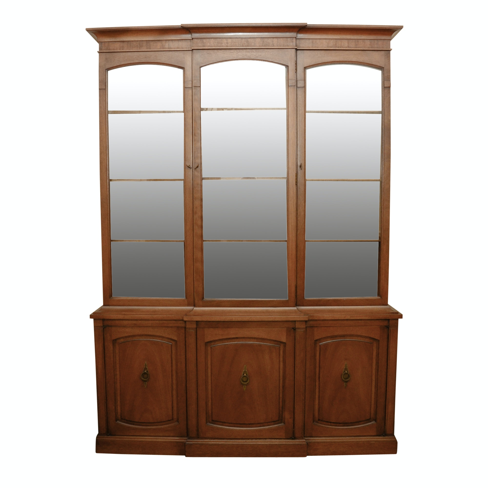 Traditional Style Mahogany Breakfront China Cabinet