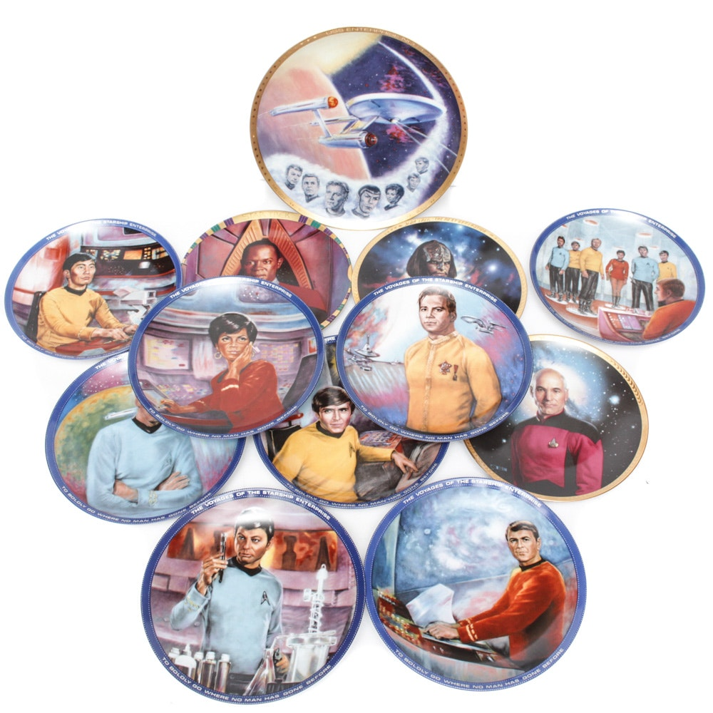 """""""Star Trek"""" and """"Star Wars"""" Collector's Plates"""