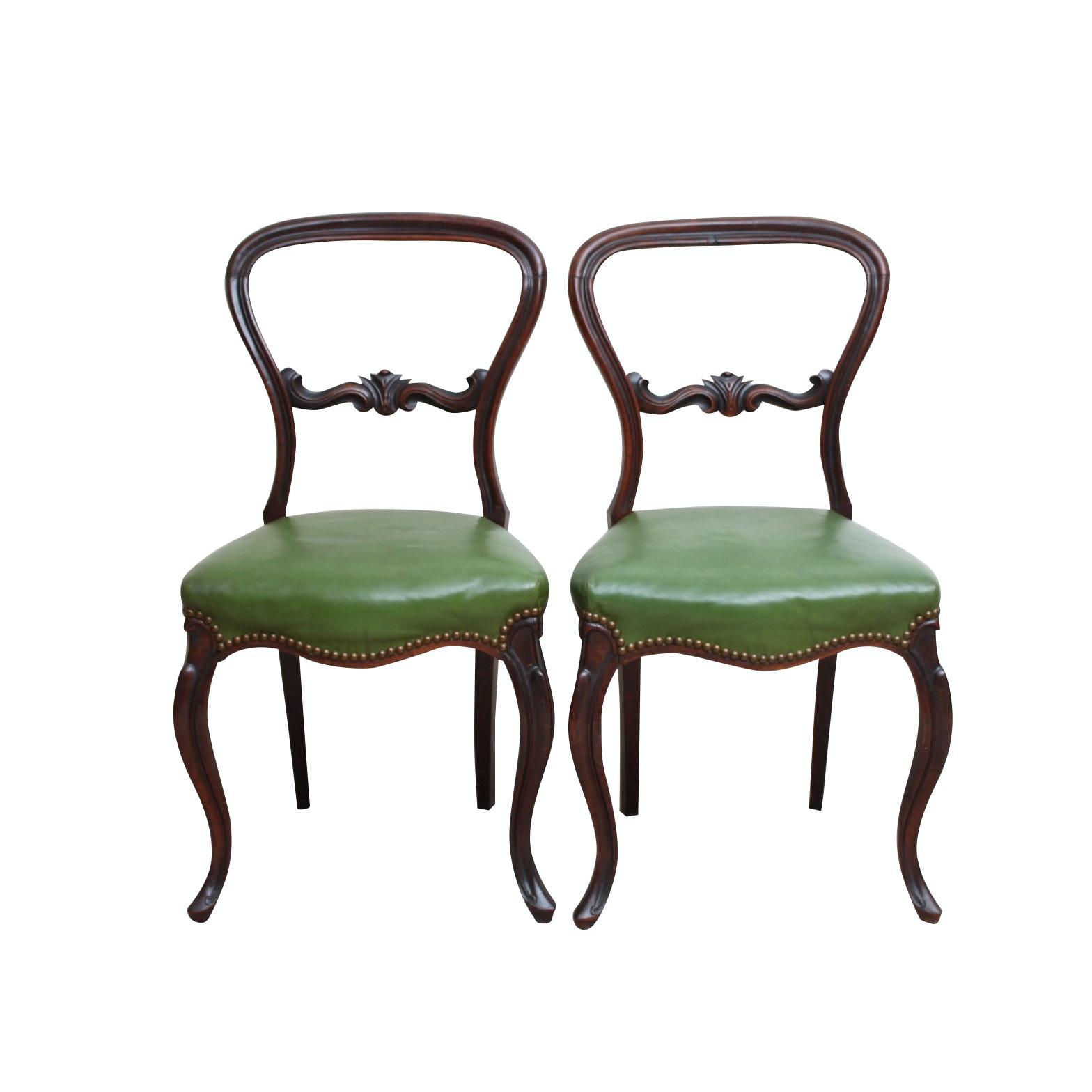 Victorian Mahogany Balloon Back Chairs