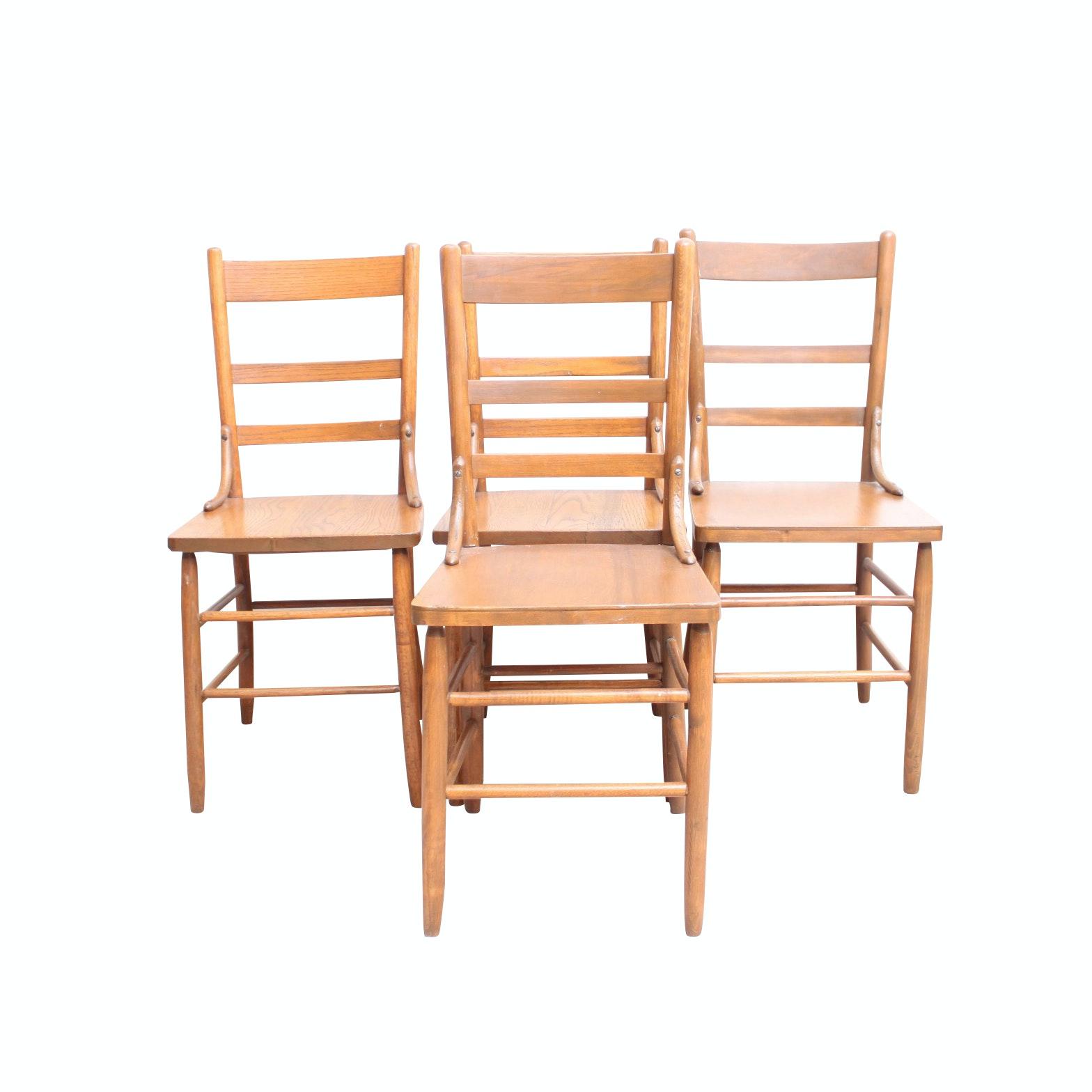 Vintage Oak Side Chairs