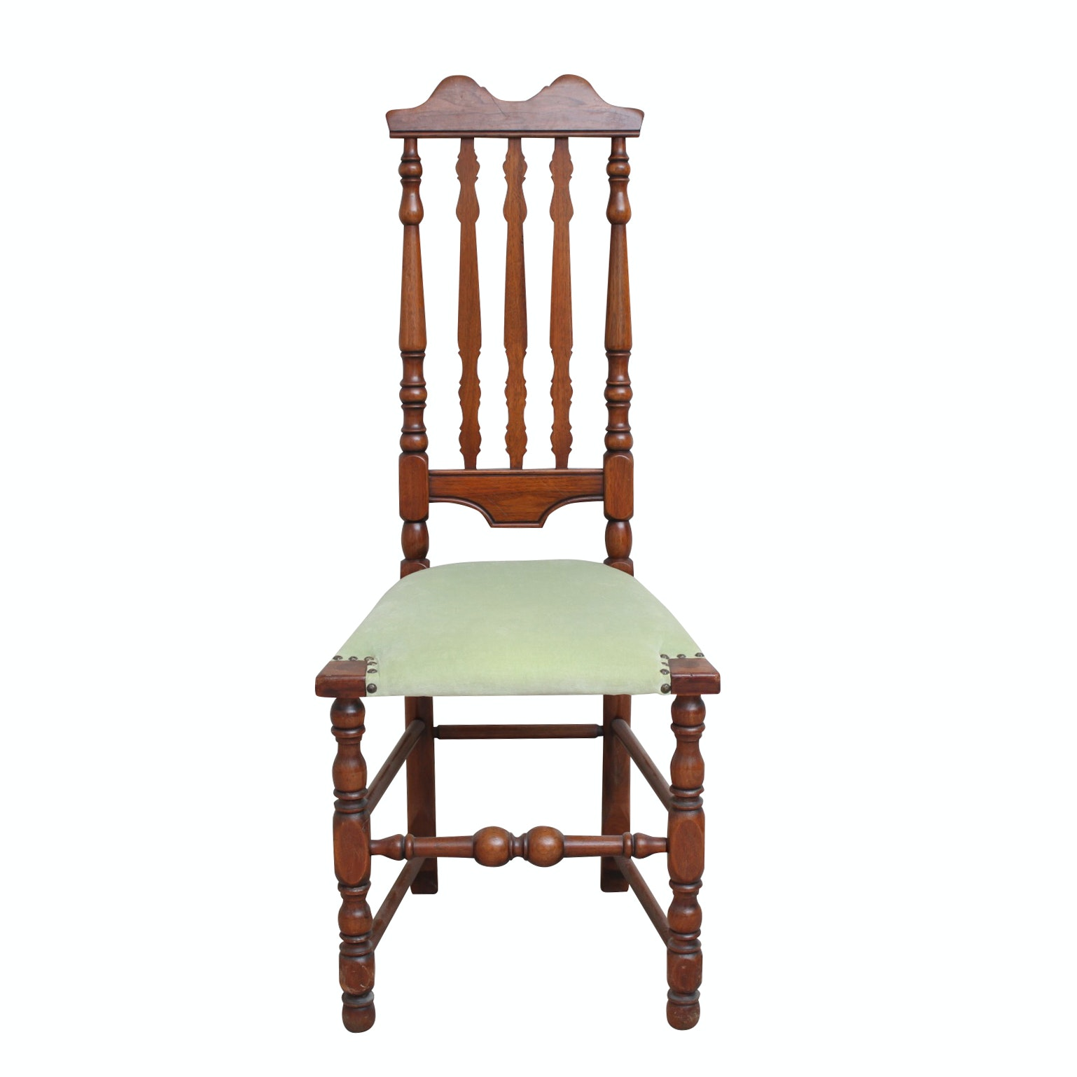 Vintage William and Mary Style Walnut Chair