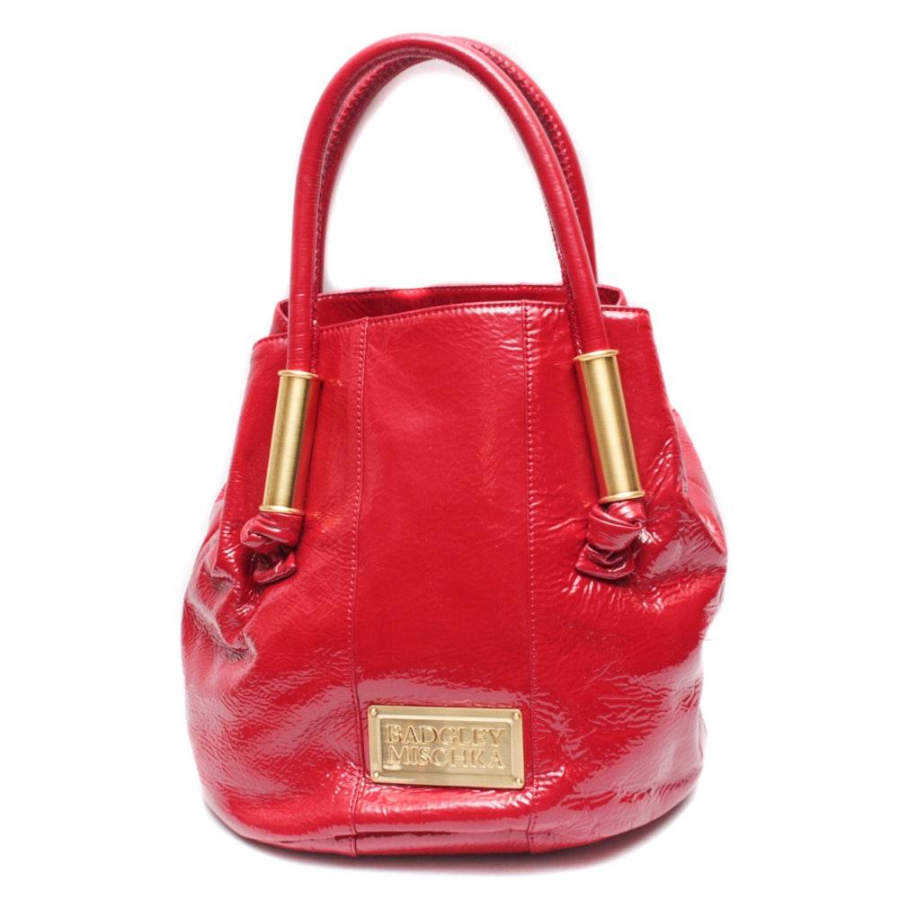 Badgley Mischka Red Patent Leather Handbag