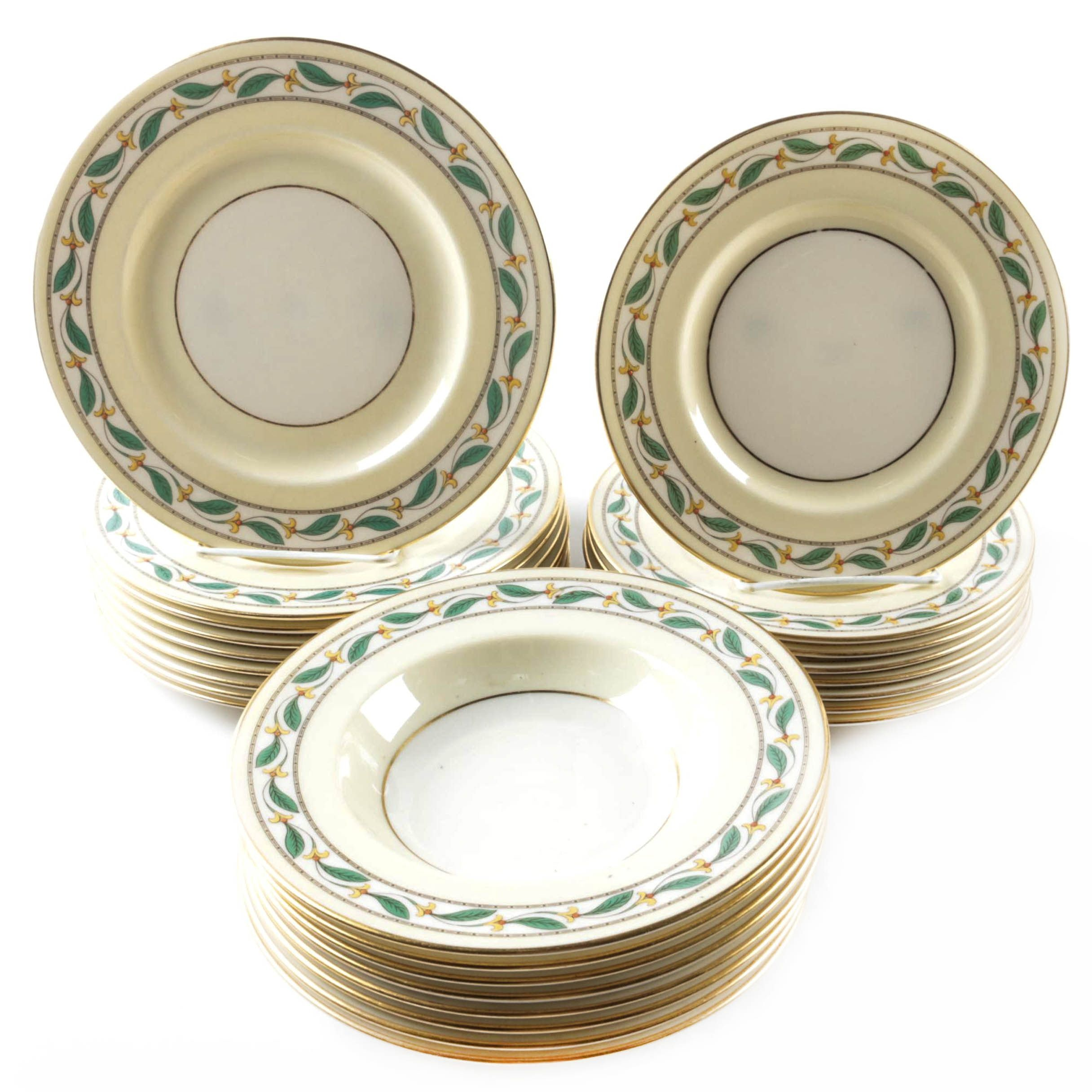 "Vintage Lenox ""Westbury"" Luncheon Plates, Salad Plates and Bowls"