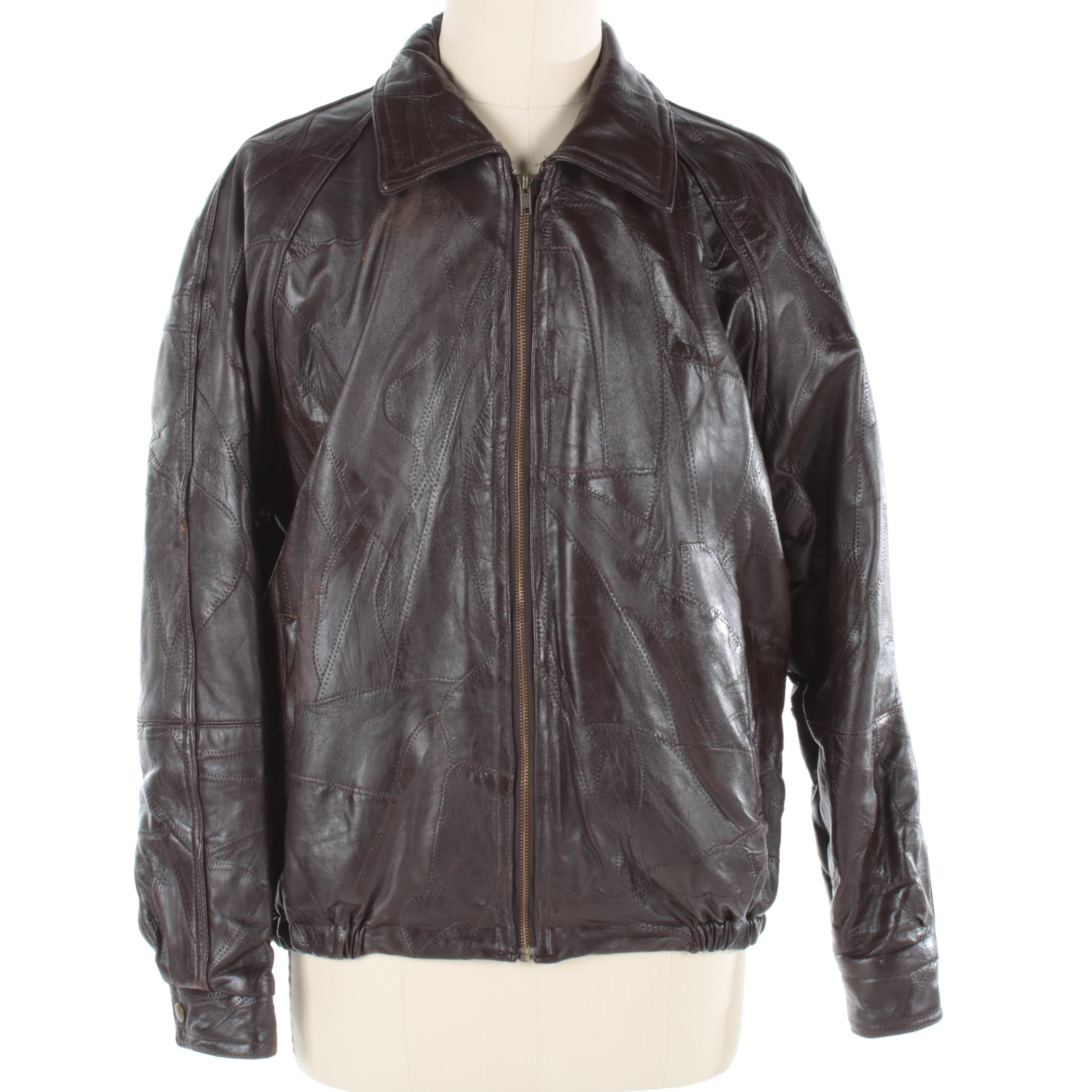 Men's Haband Brown Leather Jacket