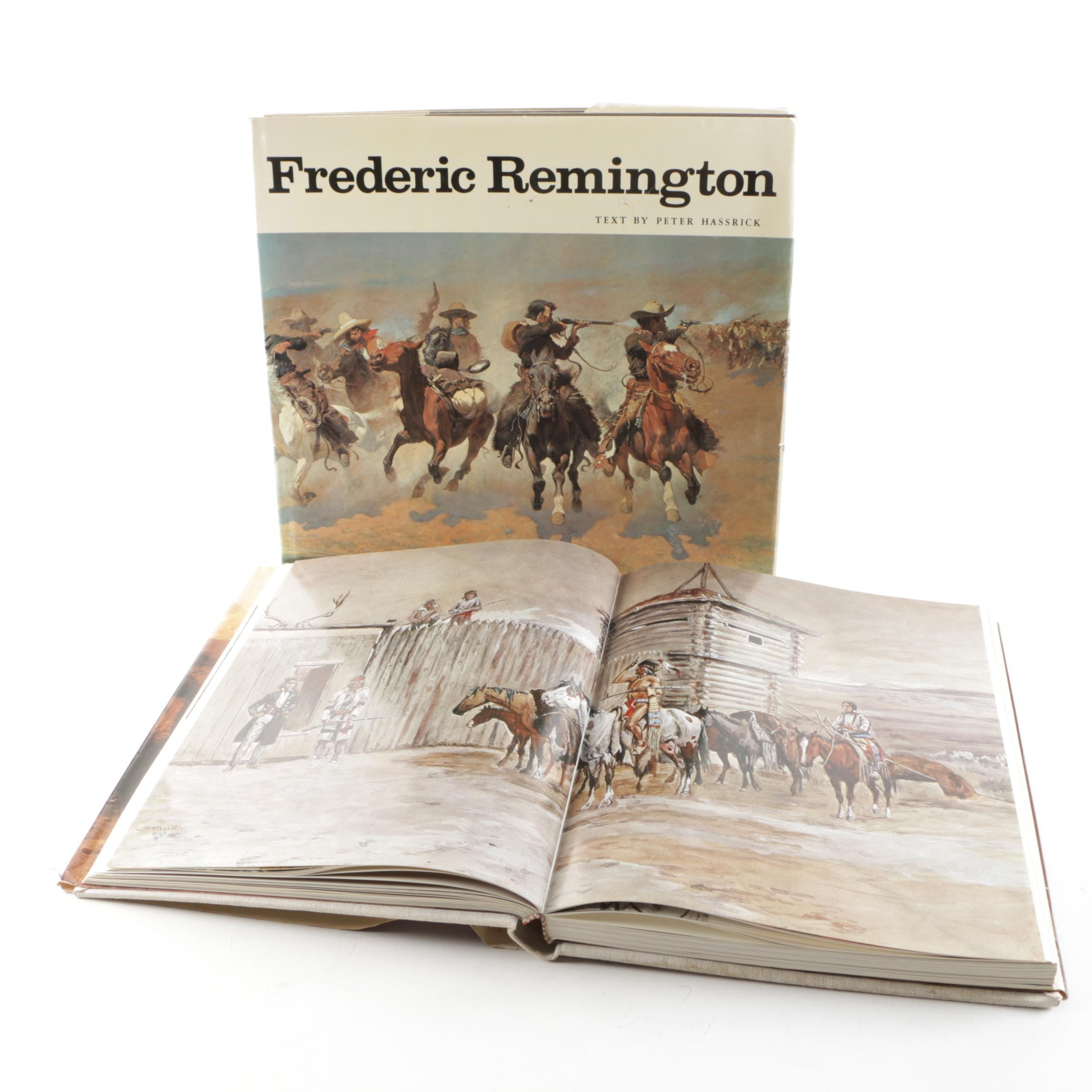 """""""The Art of the Old West"""" and """"Frederic Remington"""" Art Books"""