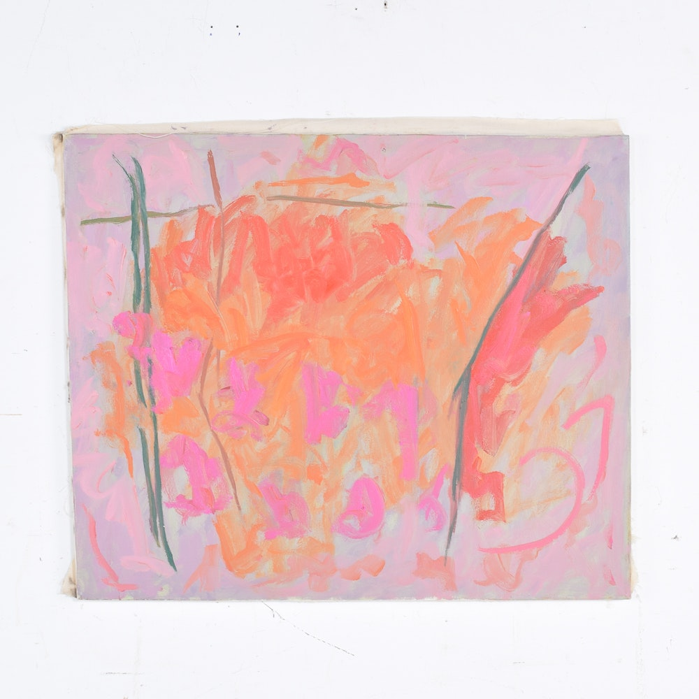 Roland Huston Abstract Acrylic Painting on Canvas