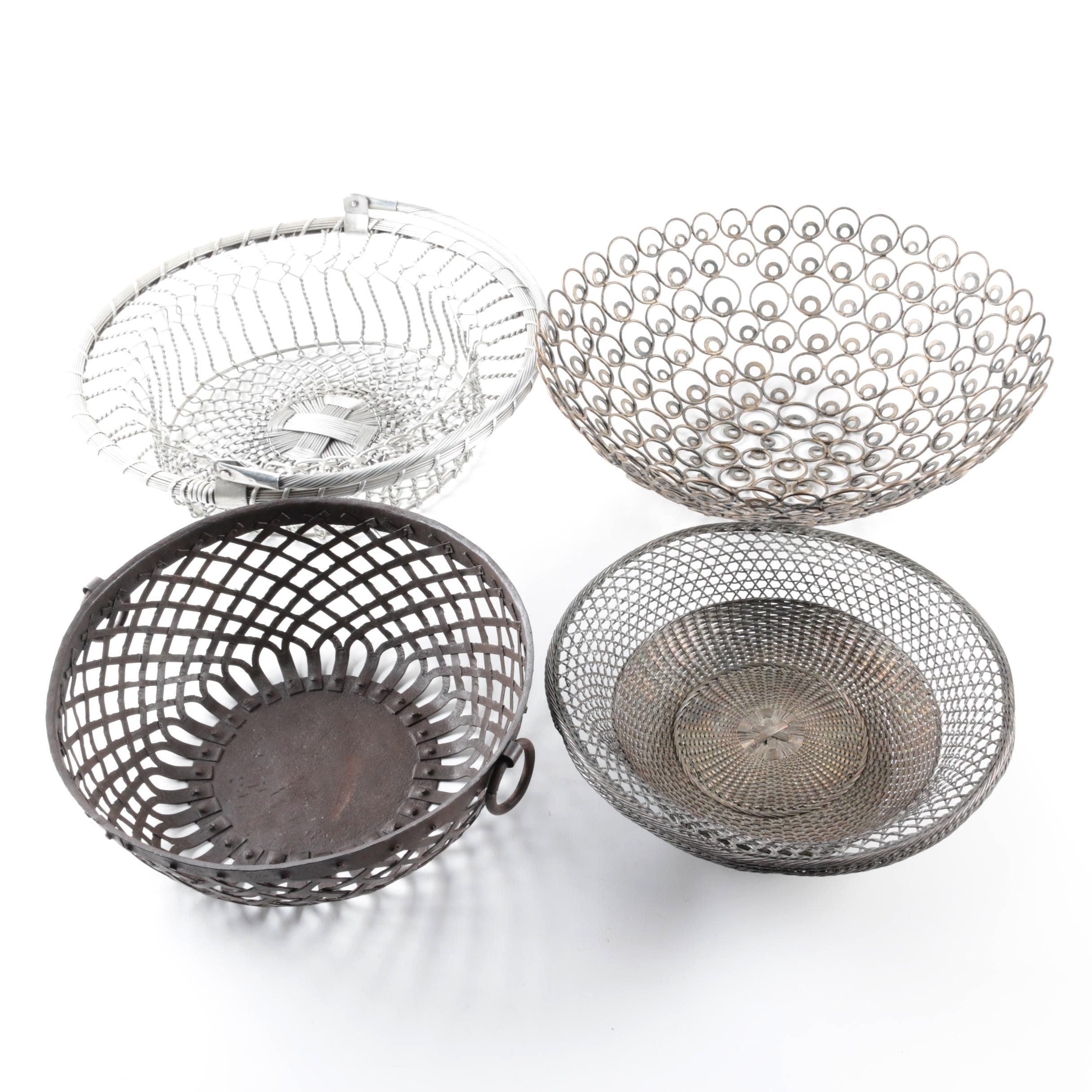 Assorted Metal Baskets
