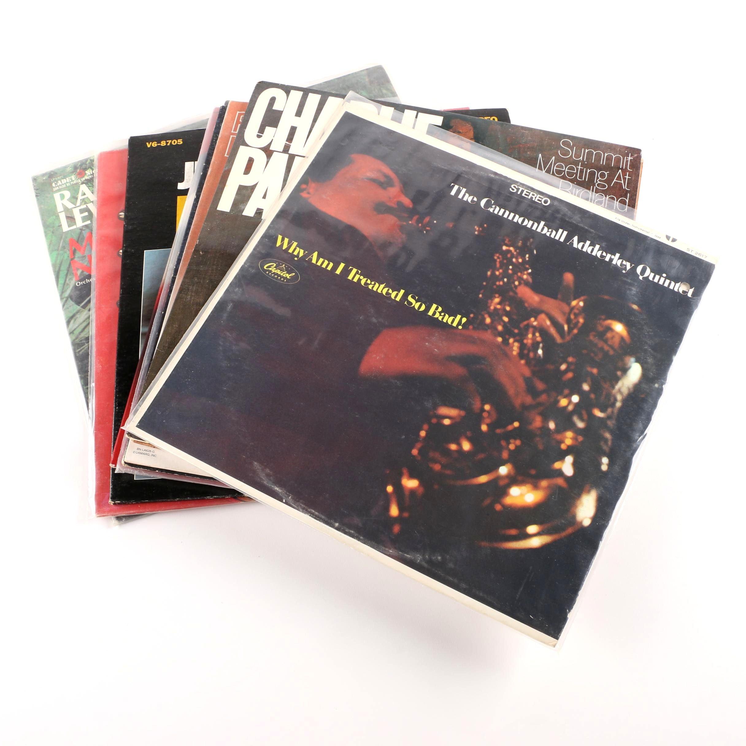 Jazz Records Including Charlie Parker, Dave Brubeck, Cannonball Adderley