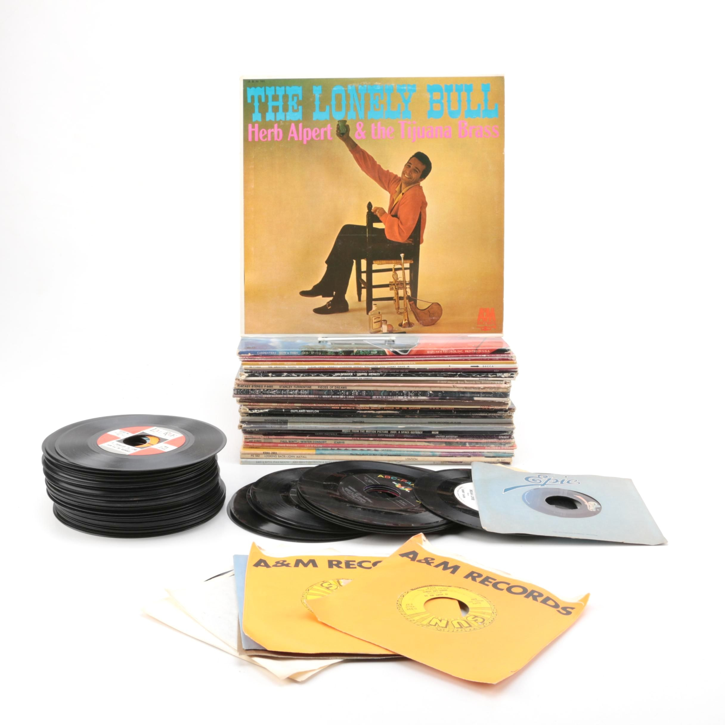 Carpenters, Herb Alpert, Paul Winter, and Other LPs and 45s