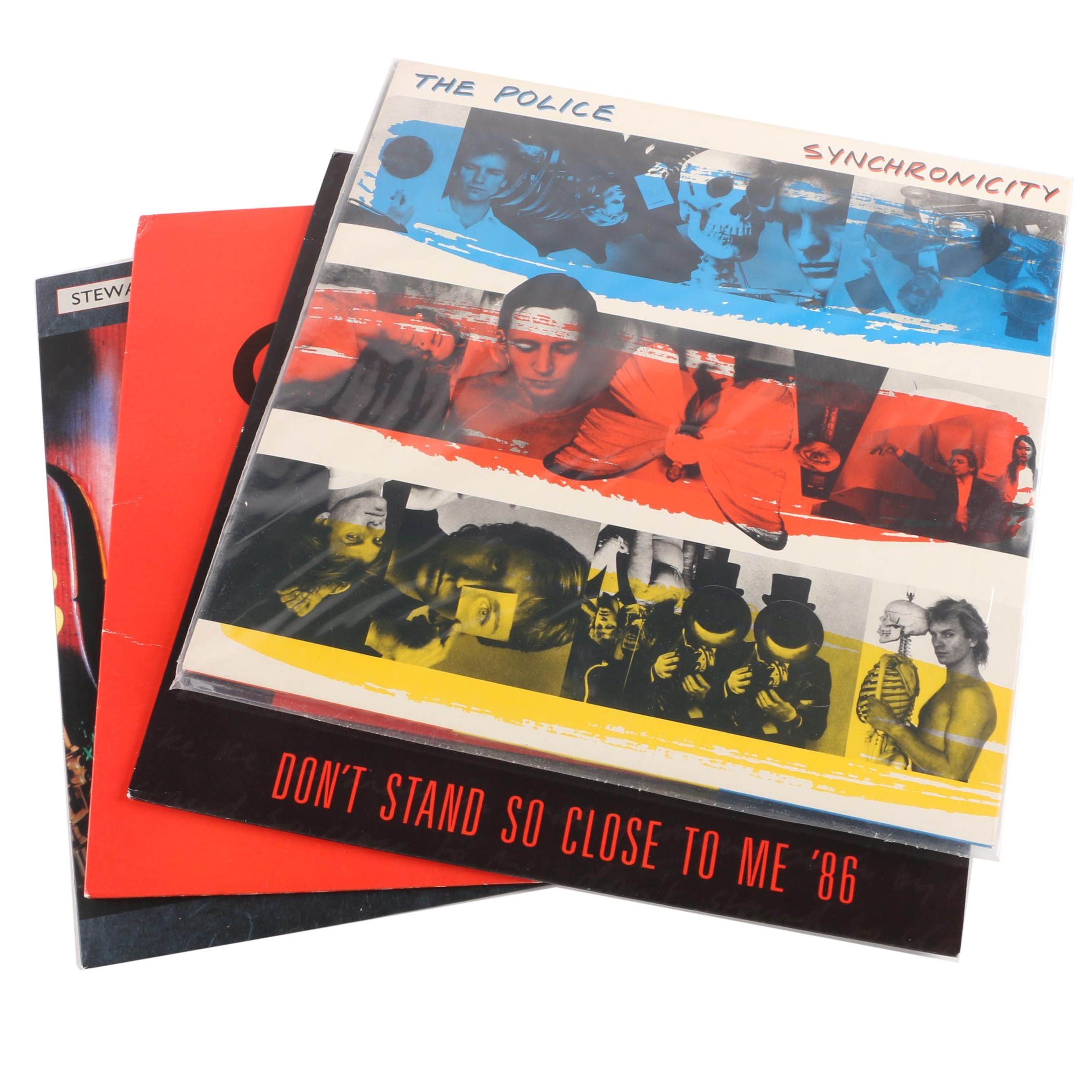 """The Police, Andy Summers, Stewart Copeland Records Including """"Synchronicity"""""""