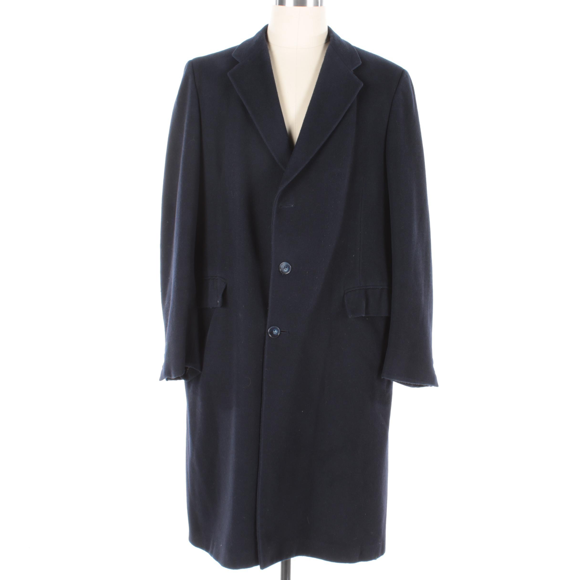Men's Boyd's Saint Louis Navy Wool Overcoat