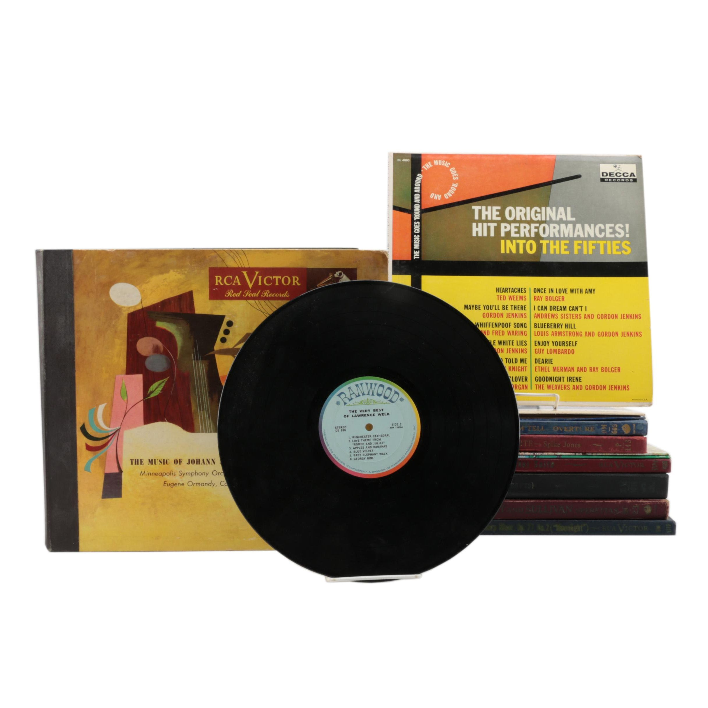 Vintage 78 RPM and LP Pop and Classical Records