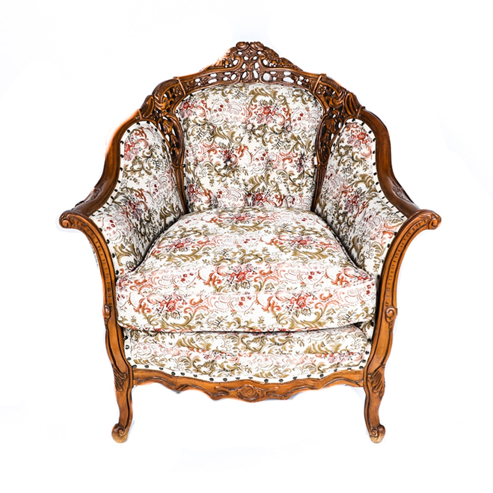 Vintage Rococo Style Lounge Chair