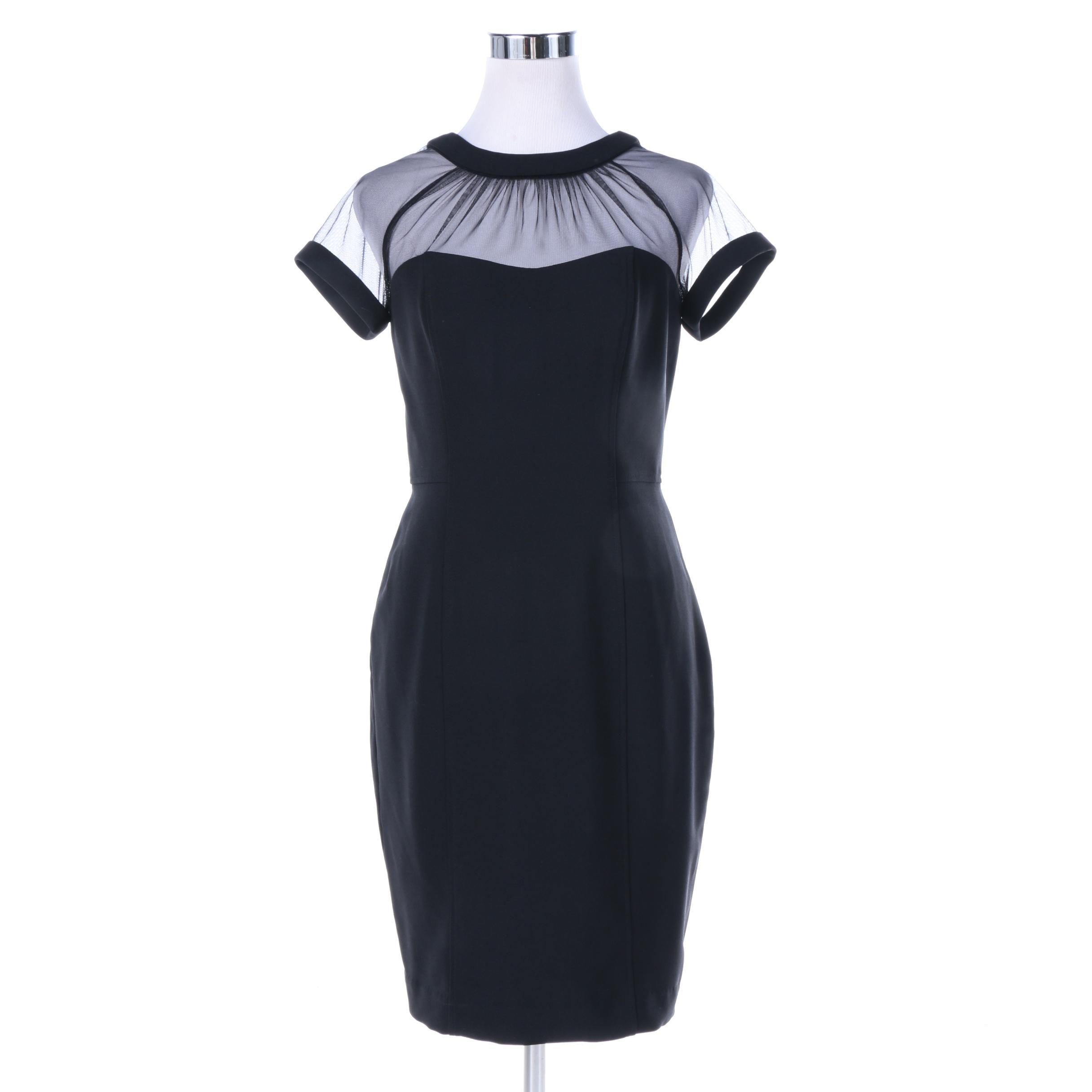 Maggy London Petites Black Poly Blend Cocktail Dress