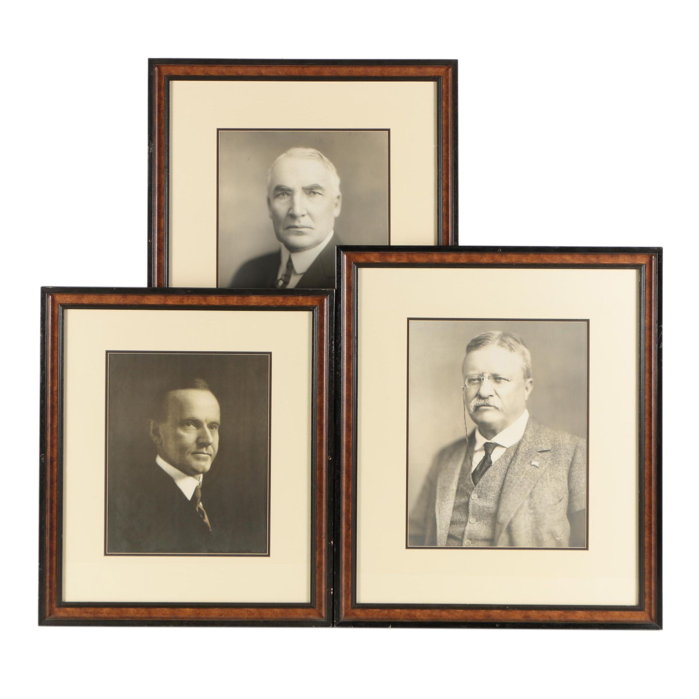Rotogravure and Albumen Photograph of Past Presidents