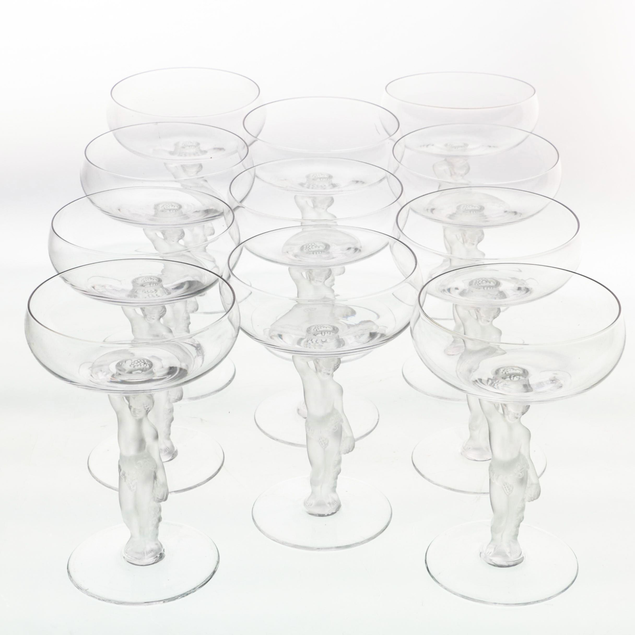 "Vintage Bayel ""Bacchante"" Crystal Coupes"